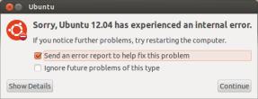 Ubuntu error