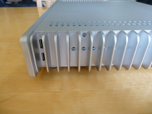 Side view with usb 2 ports